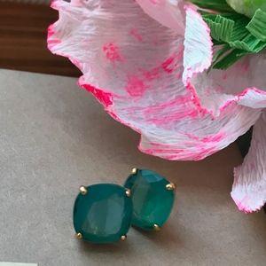 Kate Spade Small Square Stud Earrings, Beryl Green